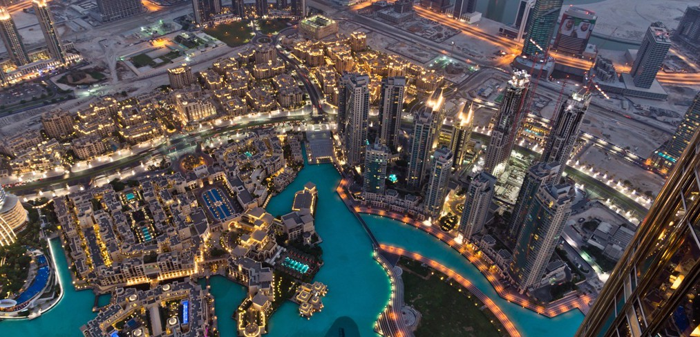 Dubai Fountain Area from Burj Khalifa-Fotolia_48139889_Small